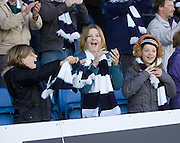Siobhan, Stephanie (13), and Albany Beat from Christchurch, New Zealand celebrate after Dundee had won at Ross County. They were at the game with brother Ewan, dad Andrew and mum Nicki. Andrew last saw his favourites 17 years ago. - Ross County v Dundee - IRN BRU Scottish Football League First Division at Victoria Park<br /> <br /> <br /> <br /> http://www.davidyoungphoto.co.uk