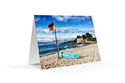 "Photo Art Greeting Card - Sydney Coastal Collection (Coogee Beach). Printed in Sydney on quality matte card stock, 174 x 123mm, blank inside, envelope included, packaged in sealed poly bag. Click ""Add to Cart"" to choose your own mix of 5, 10, or 20 cards from this collection."