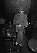 Man Asleep in Pub, UK. 1980s.