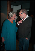 LYNN BARBER; IAN JACK, Lynn Barber celebrates her 70th birthday and the publiction of ' A Curious Career. Hixter, 9a Devonshire Sq. London. 8 May 2014.