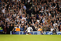 LONDON, ENGLAND - MAY 14:LONDON, ENGLAND - MAY 14:Fulham's Ryan Sessegnon celebrates scoring his teams 1st goal, in front of the celebrating fans
