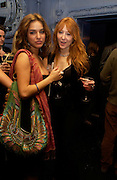 LouLou Stoffel and Charlotte Tilbury. Zac Posen Spring/ Summer collection launch party. The Blue Bar, Berkeley Hotel. London. 7 March 2004. Dafydd Jones,  ONE TIME USE ONLY - DO NOT ARCHIVE  © Copyright Photograph by Dafydd Jones 66 Stockwell Park Rd. London SW9 0DA Tel 020 7733 0108 www.dafjones.com