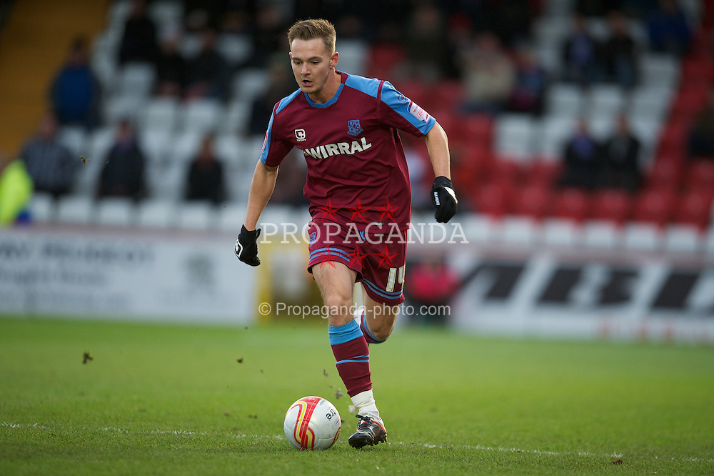 STEVENAGE, ENGLAND - Saturday, December 17, 2011: Tranmere Rovers' Adam McGurk in action against Stevenage during the Football League One match at Broadhall Way. (Pic by David Rawcliffe/Propaganda)
