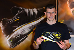 Gareth Bale promotes Running Boost Experience.  With many lauding him as one of the world's best players, Welsh footballer Gareth Bale arrives in flagship adidas store to promote the brand's new footwear Boost Experience. Adidas, Oxford Street, London, United Kingdom, February 27, 2013. Photo by Nils Jorgensen / i-Images.