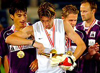 ◊Copyright:<br />GEPA pictures<br />◊Photographer:<br />Andreas Troester<br />◊Name:<br />Didulica<br />◊Rubric:<br />Sport<br />◊Type:<br />Fussball<br />◊Event:<br />T-Mobile Bundesliga, Supercup, GAK Graz vs Austria Magna Wien<br />◊Site:<br />Graz, Austria<br />◊Date:<br />09/07/04<br />◊Description:<br />Ivica Vastic, Joey Didulica, Markus Kiesenebner, Sigurd Rushfeldt (A.WIen)<br />◊Archive:<br />DCSTR-0907041894<br />◊RegDate:<br />10.07.2004<br />◊Note:<br />10 MB - WU/WU