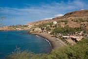 View over Ciudad Velha and the coast. Cidade Velha. Santiago. Cabo Verde. Africa.