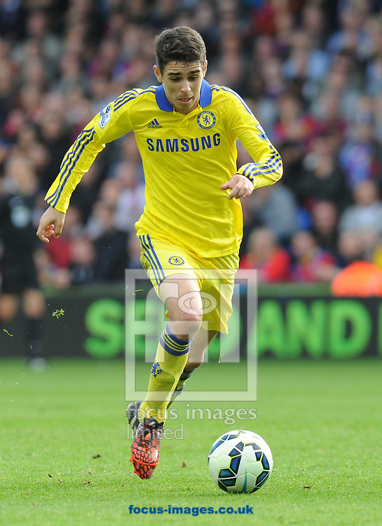 Oscar of Chelsea during the Barclays Premier League match at Selhurst Park, London<br /> Picture by Alan Stanford/Focus Images Ltd +44 7915 056117<br /> 18/10/2014