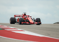 October 20, 2018 - Austin, USA - Scuderia Ferrari driver Sebastian Vettel (5) of Germany drives through Turn 10 during qualifying at the Formula 1 U.S. Grand Prix at the Circuit of the Americas in Austin, Texas on Saturday, Oct. 20, 2018. Hamilton set a new track record and earned pole position for the Grand Prix on Sunday. (Credit Image: © Scott Coleman/ZUMA Wire)