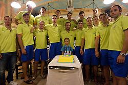 Team RK Celje Pivovarna Lasko before the new season 2011/2012, on August 5, 2011, in Pivnica Friderik, Celje, Slovenia. (Photo by Vid Ponikvar / Sportida)