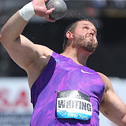 Ryan Whiting, USA, in action in the Men's Shot Put Competition during the Diamond League Adidas Grand Prix at Icahn Stadium, Randall's Island, Manhattan, New York, USA. 13th June 2015. Photo Tim Clayton