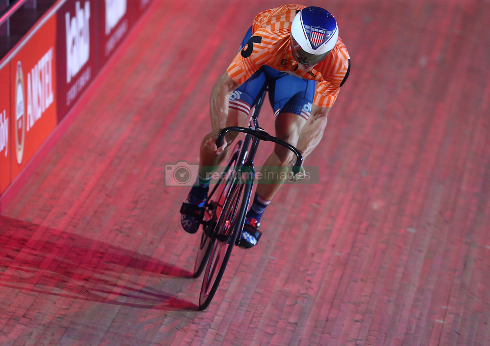 October 26, 2017 - London, England, United Kingdom - Nate Koch (USA)..compete in the 200m Flying Time Trial during day three of the London Six Day Race at the  Lee Valley Velopark Velodrome on October 26, 2017 in London, England. (Credit Image: © Kieran Galvin/NurPhoto via ZUMA Press)