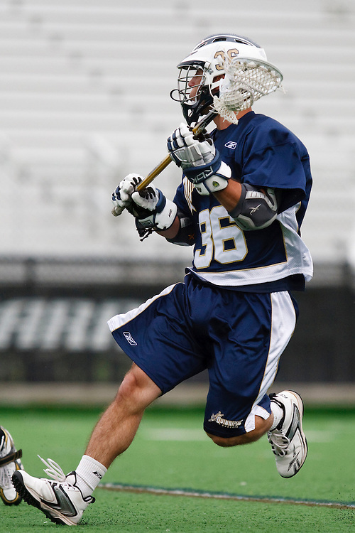 May 1, 2009:    #36 Kaiser, Todd of Quinnipiac in action during the NCAA Lacrosse game between Notre Dame and Quinnipiac at GWLL Tournament in Birmingham, Michigan. (Credit Image: Rick Osentoski/Cal Sport Media)