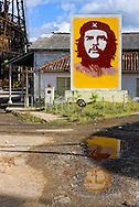 Image of Ernesto Che Guevara at the mine in Minas de Matahambre, Pinar del Rio, Cuba.