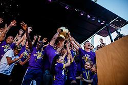 Players of NK Maribor celebrate after NK Maribor became Slovenian National Champion 2017 after football  match between NK Maribor and NK Krskor in Round #36 of Prva liga Telekom Slovenije 2016/17, on May 27th, 2017 in Ljudski Vrt, Maribor, Slovenia. Photo by Grega Valancic / Sportida