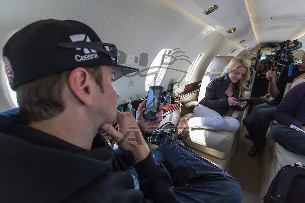 indianapolis, IN - May 17, 2014:  Kurt Busch (26) travels back to Charlotte, NC to run the Sprint All Star Race from Indianapolis Motor Speedway in indianapolis, IN. <br /> <br /> MANDATORY PHOTO CREDIT:  Walter G. Arce, Sr. KBI/ActionSportsInc.com