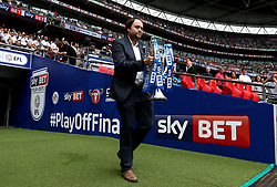 Free to use courtesy of Sky Bet - The Sky Bet Championship Playoff Trophy is brought out at Wembley for the final - Mandatory by-line: Robbie Stephenson/JMP - 29/05/2017 - FOOTBALL - Wembley Stadium - London, England - Huddersfield Town v Reading - Sky Bet Championship Play-off Final