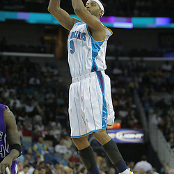 20 December 2008: New Orleans Hornets guard Morris Peterson (9) shoots during a NBA regular season game between the Sacramento Kings and the New Orleans Hornets at the New Orleans Arena in New Orleans, LA. .