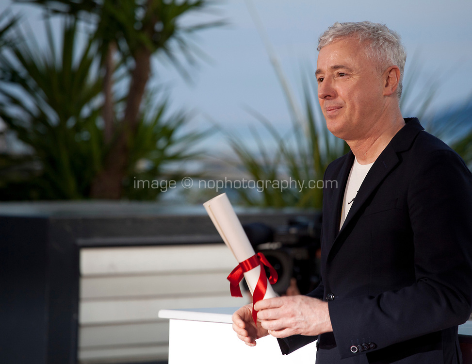 Robin Campillo winner of the Grand Prix for the film 120 Beats Per Minute (120 Battements Par Minute) at the Award Winner's Photocall at the 70th Cannes Film Festival Saturday 27th May 2017, Cannes, France. Photo credit: Doreen Kennedy