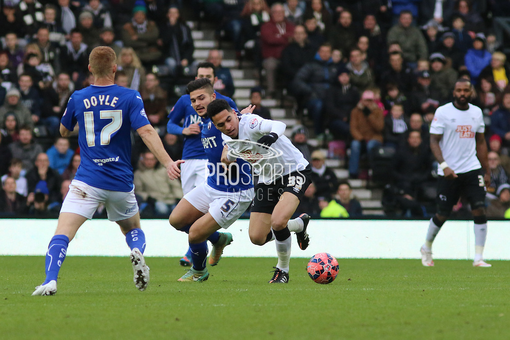 During the The FA Cup match between Derby County and Chesterfield at the iPro Stadium, Derby, England on 24 January 2015. Photo by Aaron Lupton.