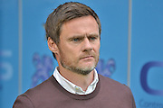 Graham Alexander during the Sky Bet League 1 match between Bury and Fleetwood Town at Gigg Lane, Bury, England on 18 August 2015. Photo by Mark Pollitt.