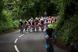 Katrine Aalerud (NOR), Anna Plichta (POL) and Christine Majerus (LUX) at Stage 3 of 2019 OVO Women's Tour, a 145.1 km road race from Henley-on-Thames to Blenheim Palace, United Kingdom on June 12, 2019. Photo by Sean Robinson/velofocus.com