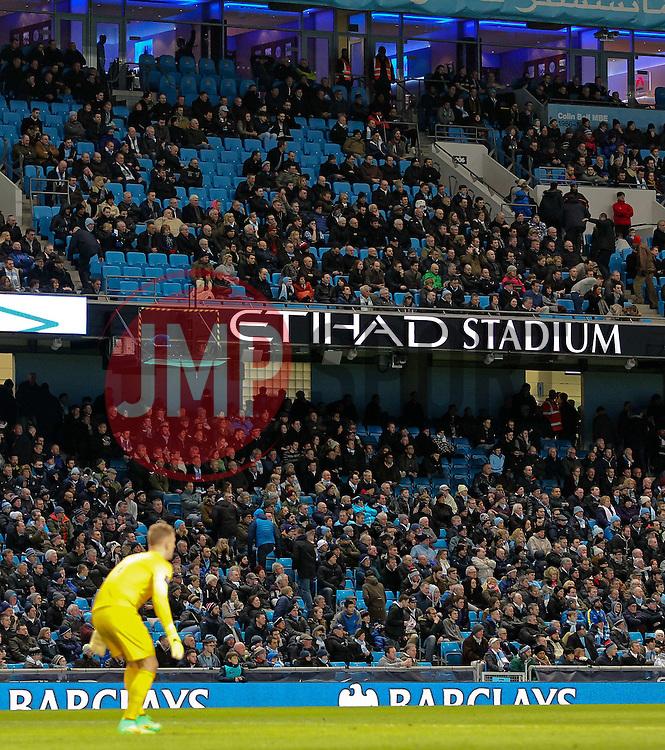 Empty seats at the Etihad Stadium - Photo mandatory by-line: Matt McNulty/JMP - Mobile: 07966 386802 - 04/03/2015 - SPORT - football - Manchester - Etihad Stadium - Manchester City v Leicester City - Barclays Premier League