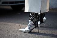 Silver Boots and Stirrup Pants, Outside Gucci FW2017