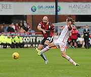 Ross County&rsquo;s Jackson Irvine can\t stop Dundee&rsquo;s Gary Harkins getting in a shot - Dundee v Ross County - Ladbrokes Premiership at Dens Park<br /> <br />  <br />  - &copy; David Young - www.davidyoungphoto.co.uk - email: davidyoungphoto@gmail.com