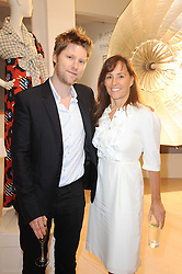 CHRISTOPHER BAILEY and SARAH MANLEY at a dinner hosted by Harper's Bazaar to celebrate Browns 40th Anniversary in aid of Women International held at The Regent Penthouses & Lofts, 16-18 Marshall Street, London on 20th May 2010.