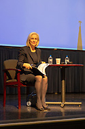 Hempstead New York, October 5, 2018. U.S. Senator Kirsten Gillibrand (D-NY) sits on stage during her Town Hall Meeting at Hofstra University on Long Island. Supreme Court nominee Judge Kavanaugh; opioid addiction crisis; abolishing ICE; immigration; and more were discussed. Sen. Gillibrand is up for re-election in midterm elections.