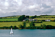 A sailing boat on the Helford River, Cornwall