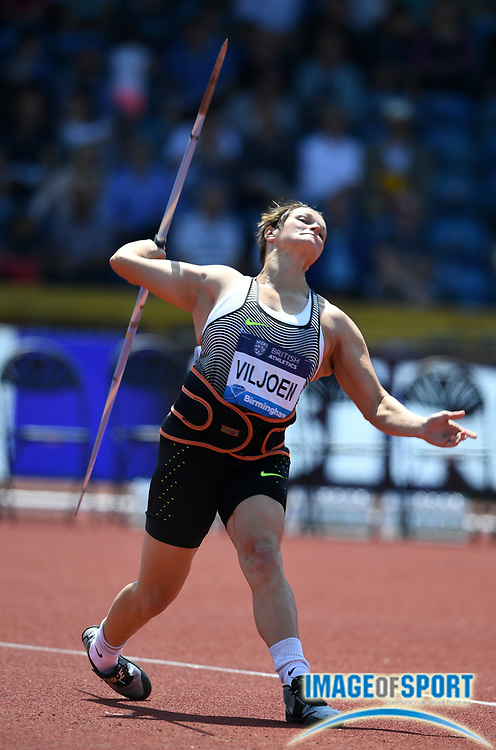 Sunette Viljoen (RSA) places seventh in the women's javelin at 192-1 (58.54dm) uring IAAF Birmingham Diamond League meeting at Alexander Stadium on Sunday, June 5, 2016, in Birmingham, United Kingdom. Photo by Jiro Mochizuki