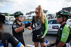 Rossella Ratto (ITA) jokes with her team-mates after Grand Prix de Plouay - Lorient Agglomération WNT 2018. A 125.5 km road race in Plouay, France on August 25, 2018. Photo by Sean Robinson/velofocus.com