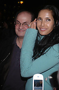 Salman Rushdie and Padma Lashki. Robert Mapplethorpe exhibition curated by David Hockney. Alison Jacques Gallery. clifford St. London. 13 January 2005.  ONE TIME USE ONLY - DO NOT ARCHIVE  © Copyright Photograph by Dafydd Jones 66 Stockwell Park Rd. London SW9 0DA Tel 020 7733 0108 www.dafjones.com
