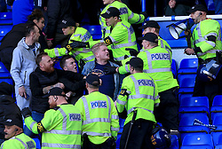 Birmingham City fans fight with police after the final whistle - Mandatory by-line: Paul Roberts/JMP - 29/10/2017 - FOOTBALL - St Andrew's Stadium - Birmingham, England - Birmingham City v Aston Villa - Skybet Championship