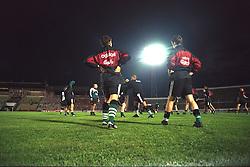 VLADIKAVKAZ, RUSSIA - Monday, September 11, 1995: Liverpool's players training at the Republican Spartak Stadium ahead of the UEFA Cup 1st Round 1st Leg match against  FC Alania Spartak Vladikavkaz. (Photo by David Rawcliffe/Propaganda)