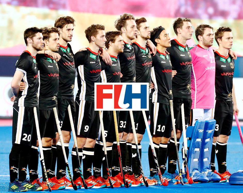 Odisha Men's Hockey World League Final Bhubaneswar 2017<br /> Match id:21<br /> India v Germany<br /> Foto: Line Up<br /> WORLDSPORTPICS COPYRIGHT KOEN SUYK