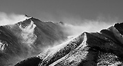 Mt. Princeton with Winter blowing snow, Collegiate Peaks, Colorado