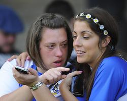 A devastated Bristol Rovers fan - Photo mandatory by-line: Joe Meredith/JMP - Mobile: 07966 386802 03/05/2014 - SPORT - FOOTBALL - Bristol - Memorial Stadium - Bristol Rovers v Mansfield - Sky Bet League Two