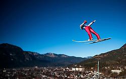 31.12.2016, Olympiaschanze, Garmisch Partenkirchen, GER, FIS Weltcup Ski Sprung, Vierschanzentournee, Garmisch Partenkirchen, Training, im Bild Anders Fannemel (NOR), mit einem Tilt & Shift Objektiv fotografiert // Anders Fannemel of Norway photographed with a Tilt & Shift lens during his Practice Jump for the Four Hills Tournament of FIS Ski Jumping World Cup at the Olympiaschanze in Garmisch Partenkirchen, Germany on 2016/12/31. EXPA Pictures © 2017, PhotoCredit: EXPA/ JFK