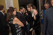 ALEXANDRA SHULMAN; DAKOTA JOHNSON; Vogue100 A Century of Style. Hosted by Alexandra Shulman and Leon Max. National Portrait Gallery. London. WC2. 9 February 2016.