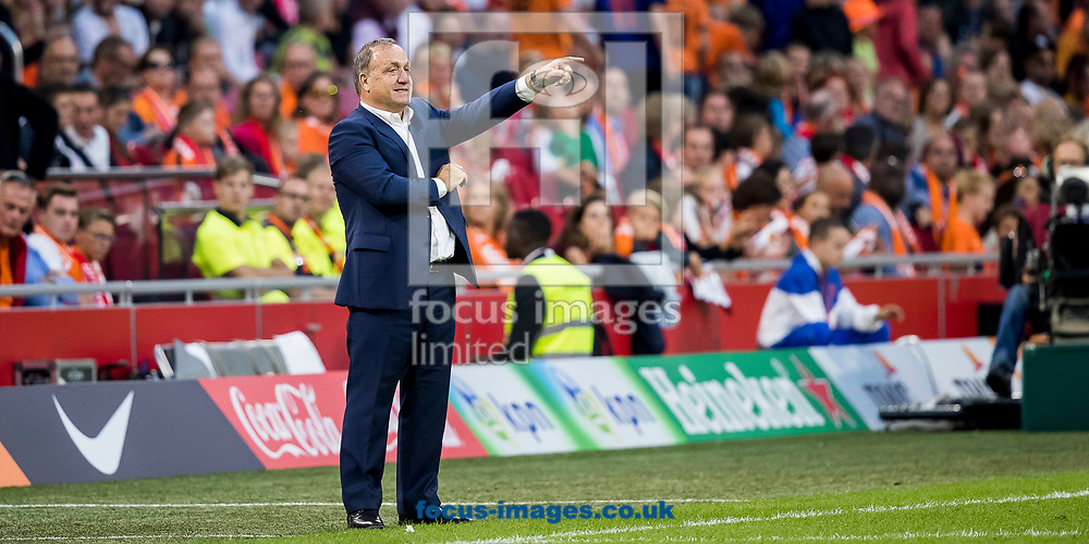 Dick Advocaat, manager of Netherlands during the 2018 FIFA World Cup Qualifying match at Amsterdam Arena, Amsterdam<br /> Picture by Joep Joseph Leenen/Focus Images Ltd +316 5261929<br /> 03/09/2017<br /> ***NETHERLANDS OUT***