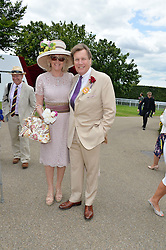 THEO & LOUISE FENNELL at the Qatar Goodwood Festival - Ladies Day held at Goodwood Racecourse, West Sussex on 30th July 2015.