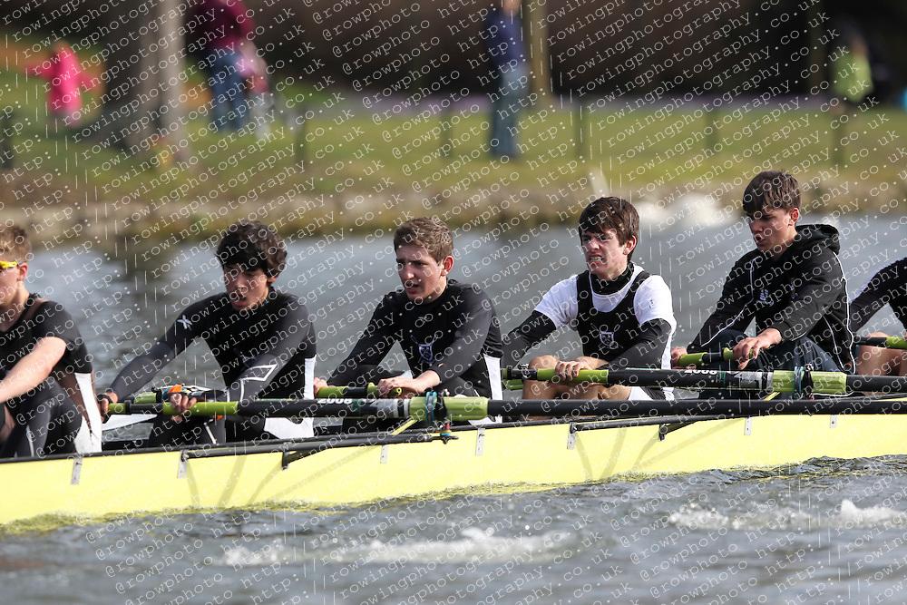2012.02.25 Reading University Head 2012. The River Thames. Division 1. St Pauls School Boat Club A J15A 8+