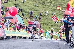 12.07.2019, Kitzbühel, AUT, Ö-Tour, Österreich Radrundfahrt, 6. Etappe, von Kitzbühel nach Kitzbüheler Horn (116,7 km), im Bild Etappensieger Aleksandr Vlasov (Gazprom Rusvelo, RUS) // stage winner Aleksandr Vlasov (Gazprom Rusvelo RUS) during 6th stage from Kitzbühel to Kitzbüheler Horn (116,7 km) of the 2019 Tour of Austria. Kitzbühel, Austria on 2019/07/12. EXPA Pictures © 2019, PhotoCredit: PhotoCredit: EXPA/ JFK