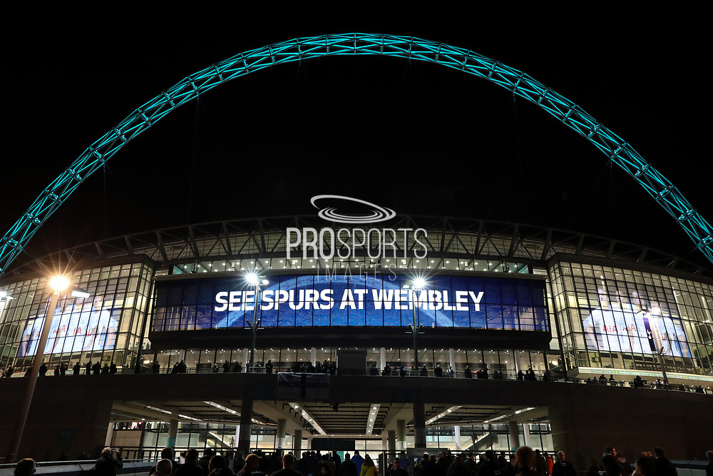 Spurs at Wembley Stadium during the Champions League match between Tottenham Hotspur and Real Madrid at Wembley Stadium, London, England on 1 November 2017. Photo by Matthew Redman.