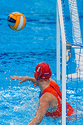 Joanne Koenders #1 of Netherlands during the semi final Netherlands vs Russia on LEN European Aquatics Waterpolo January 23, 2020 in Duna Arena in Budapest, Hungary