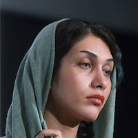 October29,2017,TOKYO Roppongi Toho s cinema , 30th International Film festival, Iranian actress  Mohadeseh  Heyrat  attends Q and A for the Home movie in competition for the Grand Prix of the 30th Tokyo International Film festival     Pierre Boutier