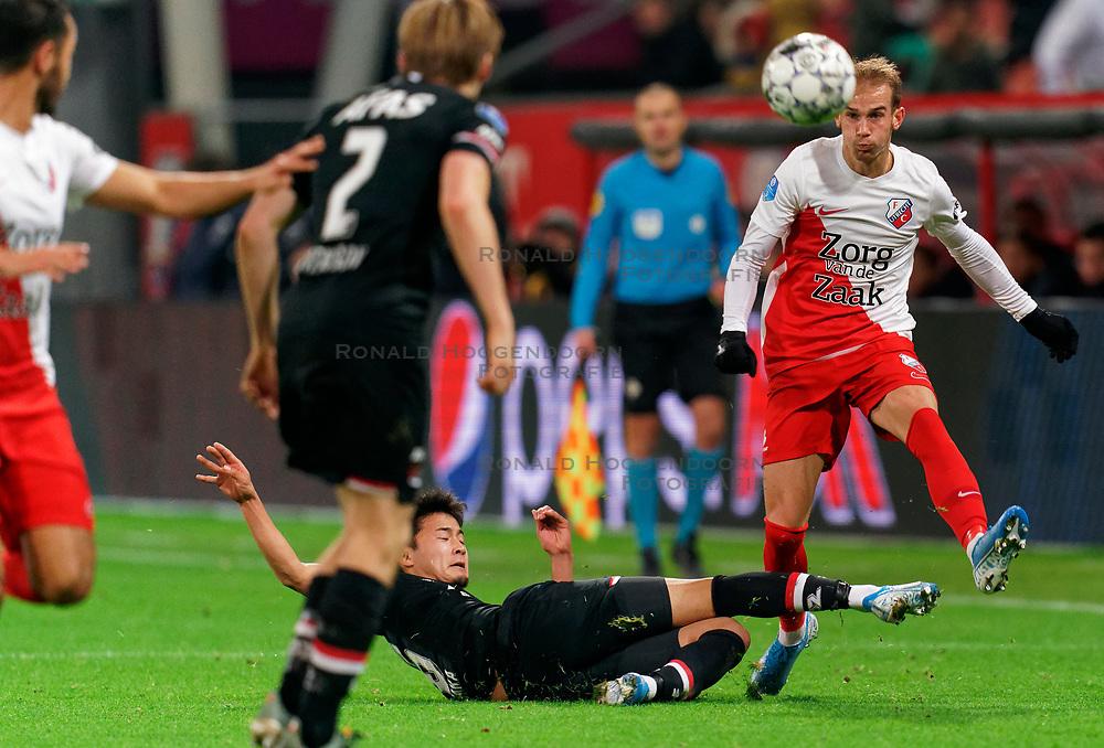 23-11-2019 NED: FC Utrecht - AZ Alkmaar, Utrecht<br /> Round 14 / Vaclav Cerny #32 of FC Utrecht, Yukinari Sugawara #26 of AZ Alkmaar