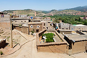 View over Tafza Village from the Berber Heritage Museum - Ecomusee Berbere de l'Ourika, Tafza, Ourika Valley, Morocco, Morocco
